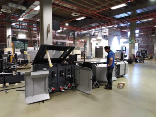 Vision security printing machine installation