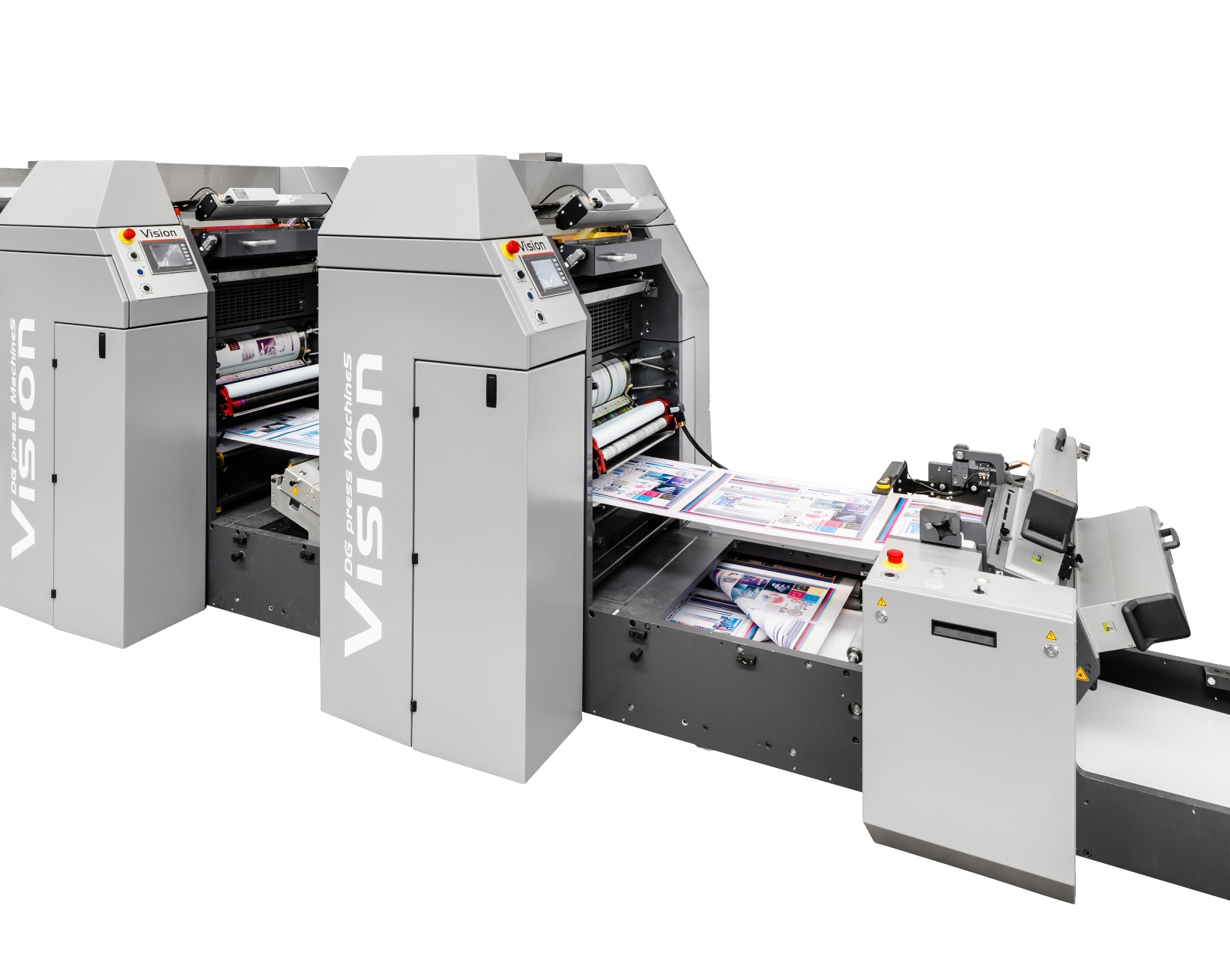 Vision web offset printing machine