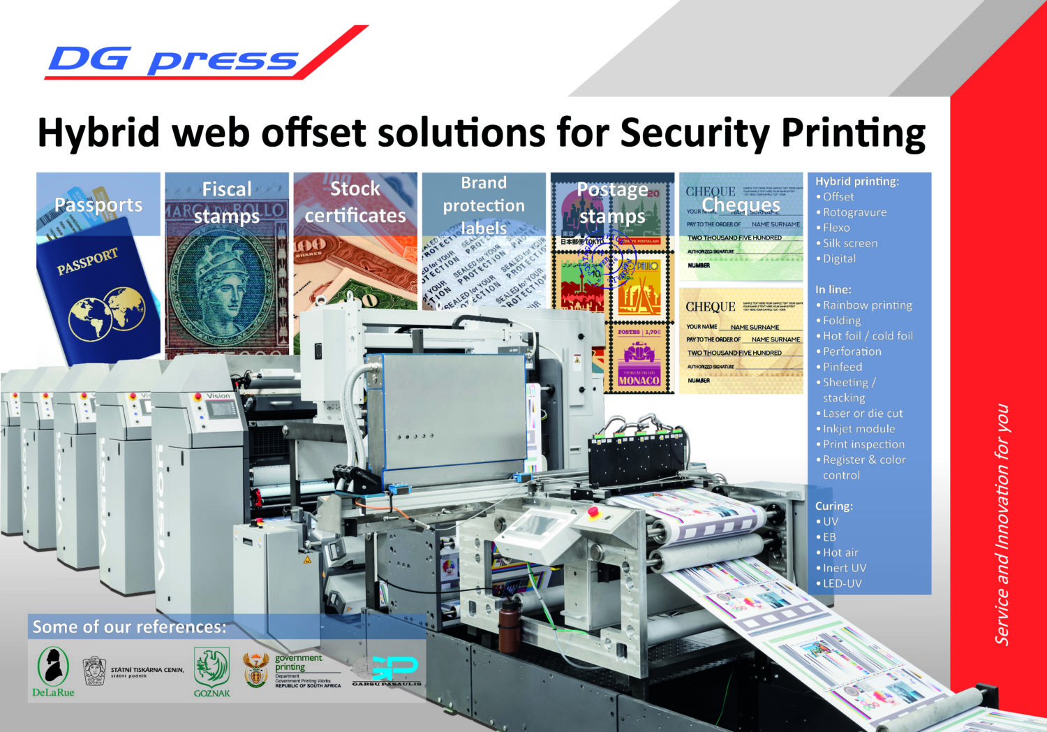 Security printing machine